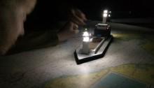 Lichterführung an unserem neuen Schiffsmodell