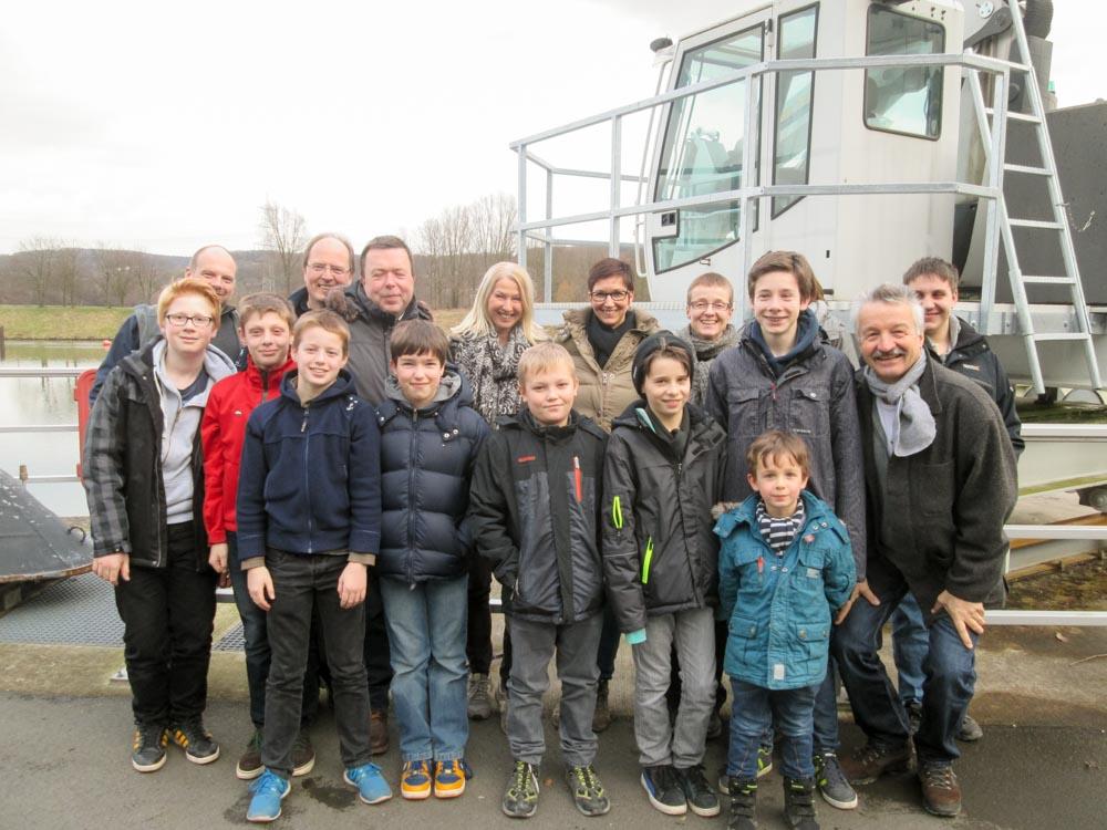 Staumauerbesuch mit Frau Beatrix Ameely vom Ruhrverband