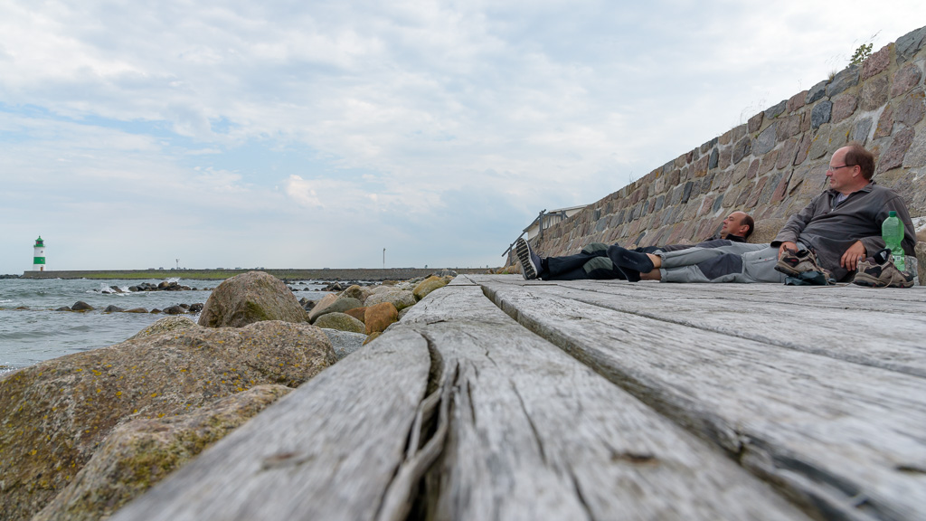 Lotseninsel: ziemlich erledigt, tolle Location