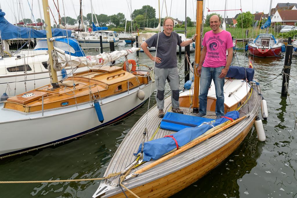 Detlef und Armin an Bord der Jacaranda